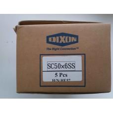 2in, Хомут усиленный 4х-болтовой 50 х 6 мм нержавеющая сталь SC50X6SS